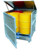 drum-spill-containment-stand-enclosed-with-lid-4-drums
